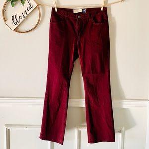 Gap Boot Cut Burgendy Jeans